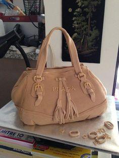 Prada Handbag Cake - by Debbie Smith @ CakesDecor.com - cake decorating website