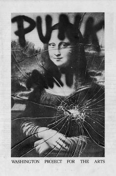 "Miller, Ringma & Hoppe, ""Smashed Mona,"" 1978. Click through for information on 98 Bowery's Punk Art Catalogue."