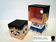 Emotional Jack paper toy from Little Plastic Man, switch the face around to match your emotions. Foam Crafts, Diy And Crafts, Plastic Man, Paper Crafts Origami, Diy Papier, Toy Craft, Designer Toys, Paper Models, Printable Paper