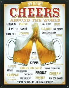 Cheers Around The World Beer Tin Sign at AllPosters.com