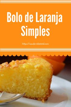 Simple orange cake - Pastry World Easy Smoothie Recipes, Easy Smoothies, Good Healthy Recipes, Sweet Recipes, Snack Recipes, Cooking Recipes, Portuguese Desserts, Portuguese Recipes, Coconut Recipes