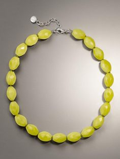 Love the color of this necklace from Talbots!