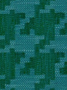 Teal Houndstooth Fabric Upholstery by greenapplefabrics on Etsy, $35.00