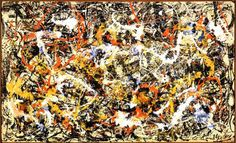 Artists in 60 Seconds: Jackson Pollock: Jackson Pollock (American, 1912-1956). Convergence, 1952. Oil on canvas. 93 1/2 x 155 in. (237.5 x 393.7 cm). Gift of Seymour H. Knox, Jr., 1956. Albright-Knox Art Gallery, Buffalo, N.Y.
