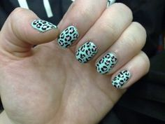 Cheeta Print DIY Nails