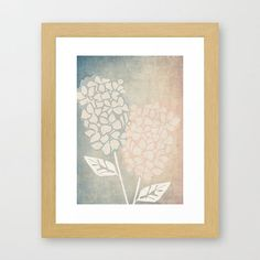 Burn Out Hydrangea Floral Art Print 5x7 by curlywillowco on Etsy, $10.00