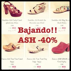 Zapatos y Sandalias ASH rebajas verano 2012
