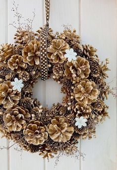 Comfortable home door wreath