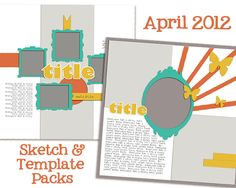 April Sketch and Template Bundle @ amykingsford.com