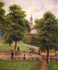 Church at Kew - Camille Pissarro - Oil Painting Reproduction