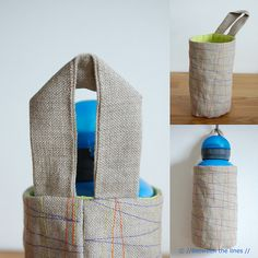 Water Bottle Holder Tutorial from the Blog Between the Lines