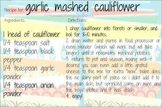 garlic mashed cauliflower - princess among superheroes