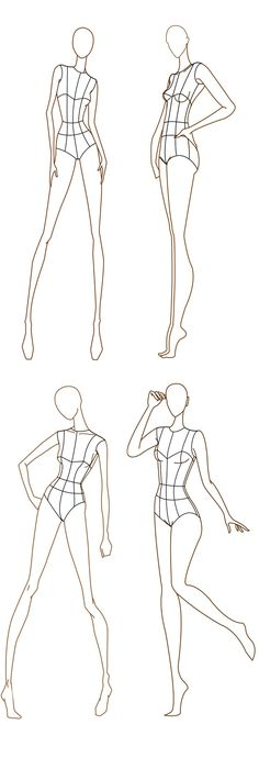 Free Fashion Croquis: 120+ Fashion Figure Templates