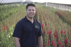 Tony Ortiz- Operations manager at Joseph & Sons. California Location, Family Flowers, Flower Farmer, Operations Management, Delphinium, Farmers, Joseph, Sons, American