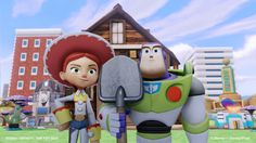 American Gothic spoof with Buzz  Lightyear and Jessie from TOY STORY in Disney Infinity video game screenshot