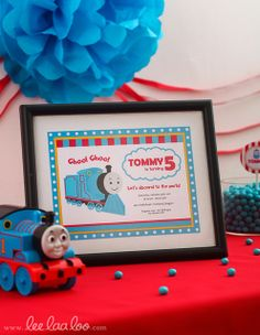 Train Birthday Party Invitations #trainparty #invitations