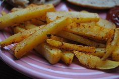 Rutabaga fries! Interesting twist on your plain old potatoe french fries. Making these tonight! (Also fun to say rutabaga :)