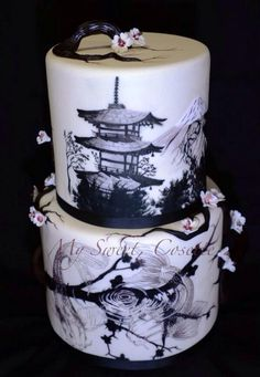 Japanese Inspired cake by My Sweet Cosette.