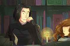 Happy Birthday, Snape! (with hermione) by staypee