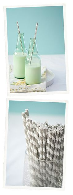 Vintage Striped Straws... it's the little decor ideas that pull it all together