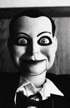 *whimper* There's something so sinister about ventriloquist dummies. Yikes!