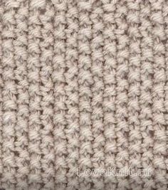 Вязание спицами узор рис (мох) №1943 схема