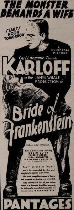 THE BRIDE OF FRANKENSTEIN (1935)