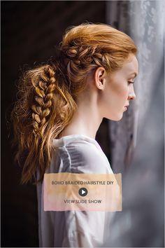 Boho Braided Hairstyle DIY