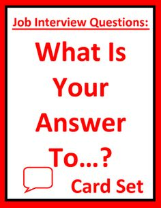 Fun, interactive job interview skills enables students to prepare for employment questions. Use as part of a mock interview activity for job seekers and business, career readiness, work skills, co-op, vocational, or CTE students. Available at https://www.teacherspayteachers.com/Product/Job-Interview-Questions-What-Is-Your-Answer-To-Card-Set-Group-Activity-2234281