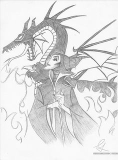 Maleficent sketch