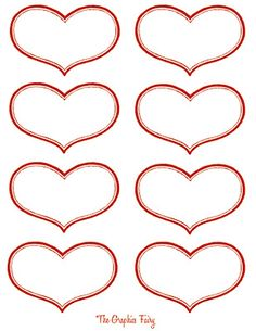 Vintage Valentine Printable - Antique Heart Labels - The Graphics Fairy