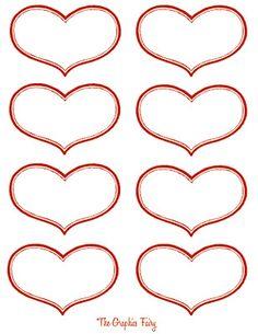 free Antique heart labels Valentine Printable