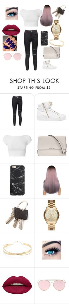 """""""first day of school"""" by treasure-washington on Polyvore featuring beauty, Just Cavalli, Helmut Lang, Michael Kors, Lana Jewelry, MINX, Huda Beauty and LMNT"""