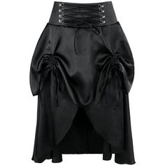 Amazon.com: Charmian Women's Steampunk Goth Vintage Victorian Gypsy... ($22) ❤ liked on Polyvore featuring skirts, goth skirt, lacy skirt, knee length lace skirt, party skirts and steam punk skirt