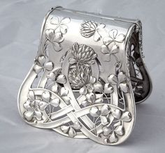 French Art Nouveau Sterling Pastry Server $1400
