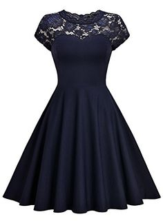 online shopping for MissMay Women's Vintage Floral Lace Short Sleeve Cocktail Swing Dress from top store. See new offer for MissMay Women's Vintage Floral Lace Short Sleeve Cocktail Swing Dress Grad Dresses, Dresses For Teens, Formal Dresses, Homecoming Dresses, Navy Blue Dresses, Swing Dress, Women's Fashion Dresses, Pretty Dresses, Lace Shorts