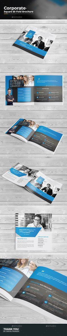 Square Bi Fold Brochure Template Vector EPS, AI. Download here: http://graphicriver.net/item/square-bi-fold-brochure/15236591?ref=ksioks