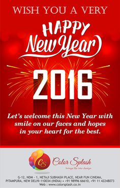 May this year of 2016 be : A year of Health & Happiness.... A year of Wealth & Wisdom... A year of Peace & Prosperity.. A year of Glee & Glow... And also a year of Love & Laughter.. ||Happy New Year||  #HappyNewYear #HappyNewYear2016 #Celebrations2016