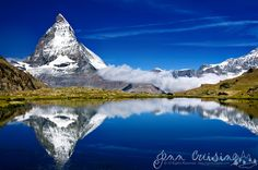 Matterhorn reflected in Riffelsee by Jenn Oliver