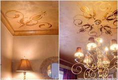 Zarif ve büyüleyici Duvar Stencils ve Ev Dekorasyonu Projeleri ve DIY Metalik Wall Art Fikirler - Kraliyet Tasarım Stüdyosu
