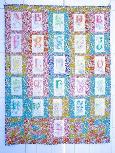 alfabeto de primavera   spring alphabet [ritacor patchwork]