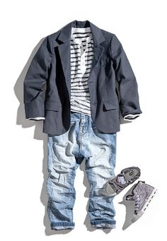 Untitled Love the jacket, shirt, & shoes, just don't know about the jeans…I like dark denim better… - Unique Baby Outfits Toddler Boy Fashion, Little Boy Fashion, Toddler Boys, Kids Boys, Kids Fashion, Fashion Clothes, Toddler Chores, Fashion 2015, Little Boy Outfits