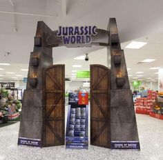 Very nice front of store display for new Jurassic World launch