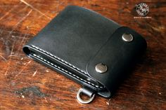 Trifold Biker Wallet with Coin Department by AfterMidnightLondon