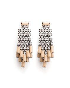 Rock Crystal Rain Earrings