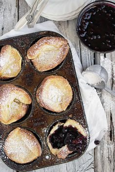 Typically made (and served) in a large cast iron skillet, the Dutch baby pancake is an impressive centerpiece on your brunch table. But if you want to make a bunch of these light, souffle-like treats at once, turn to your muffin tin for the cutest mini versions. This recipe is so fun for a family breakfast! Just add an assortment of jams, sliced fruit, and whipped cream to turn it into a brunch party treat!