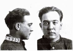 G.C. Robertson one of the inside men for the Cherryvale, KS bank robbery in 1926 this is his Leavenworth mug shot