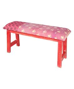 Look what I found on #zulily! Pink & Red Carpenter Bench #zulilyfinds