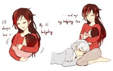 RWBY Author: Kuma Pairing: Ruby x Weiss Science babies Read left to right