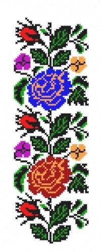 Hardanger Embroidery, Embroidery Motifs, Ribbon Embroidery, Cross Stitch Embroidery, Cross Stitch Borders, Cross Stitch Flowers, Cross Stitch Patterns, Handmade Crafts, Diy And Crafts